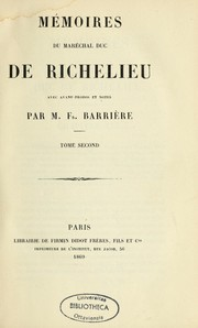 Cover of: Mémoires du maréchal duc de Richelieu