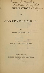 Cover of: Meditations and contemplations