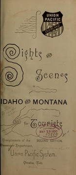 Cover of: Sights and scenes in Idaho and Montana for tourists