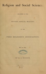 Cover of: Religion and social science