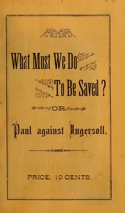 Cover of: What must we do to be saved?