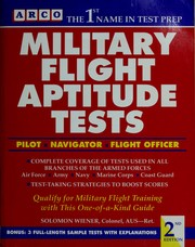 Cover of: Military flight aptitude tests | Solomon Wiener