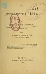 Cover of: The intellectual life