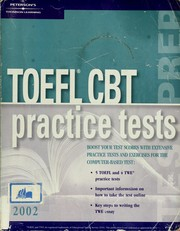 Cover of: TOEFL CBT practice tests