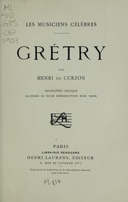 Cover of: Grétry