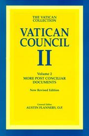 Cover of: Vatican Council II, more postconciliar documents