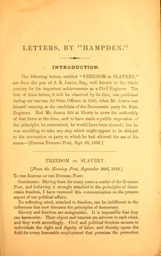 Cover of: Letters addressed to the friends of freedom and the Union
