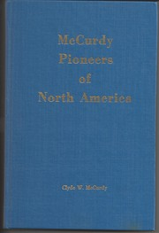 Cover of: McCurdy pioneers of North America