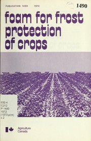 Cover of: Foam for frost protection of crops | David Siminovitch
