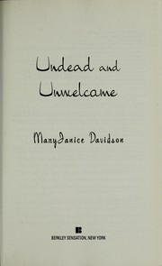 Cover of: Undead and unwelcome