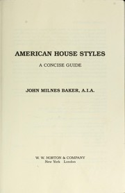 Cover of: American house styles