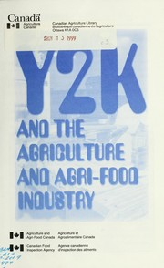 Cover of: Y2K and the agriculture and agri-food industry. |