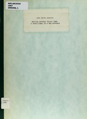 Cover of: British defense policy 1966