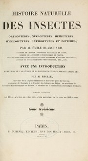 Cover of: Histoire naturelle des insectes