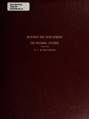 Cover of: Research and development for national defense