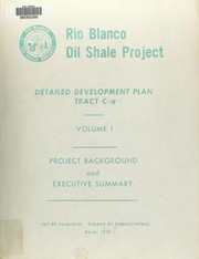Cover of: Detailed development plan, tract C-a