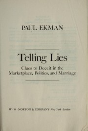 Cover of: Telling lies | Paul Ekman