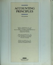 Cover of: Accounting principles | Roger H. Hermanson
