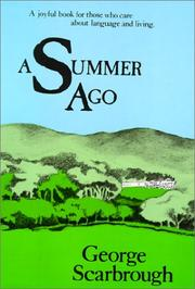 Cover of: A summer ago