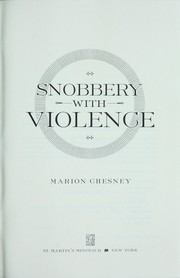 Cover of: Snobbery with violence | Marion Chesney