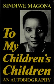 Cover of: To my children's children