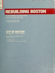 Cover of: Five year capital plan. (title varies) | Boston (Mass. Mayor