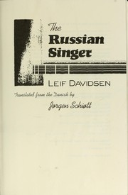 Cover of: The Russian singer