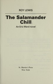 Cover of: The salamander chill