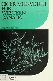 Cover of: Cicer milkvetch for Western Canada