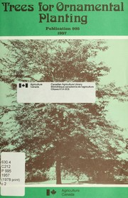 Cover of: Trees for ornamental planting