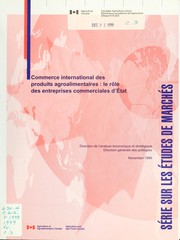 Cover of: International trade in agricultural and food products
