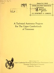 A technical assistance program for the Upper Cumberlands of Tennessee