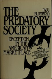 Cover of: Thep redatory society | Paul Blumberg