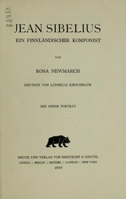 Cover of: Jean Sibelius