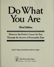 Cover of: Do what you are | Paul D. Tieger