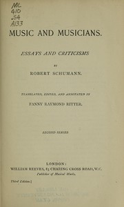 Cover of: Music and musicians. | Robert Schumann