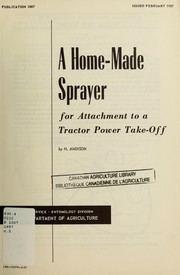 Cover of: A home-made sprayer | H. Andison