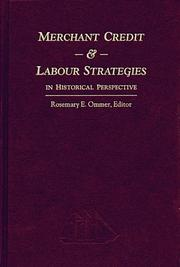 Cover of: Merchant Credit and Labour Strategies in Historical Perspective | Rosemary Ommer