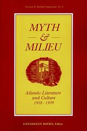 Cover of: Myth and Milieu | Gwendolyn Davies