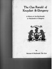 Cover of: The clan Ranald of Knoydart & Glengarry | Norman H. MacDonald