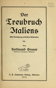 Cover of: Der treubruch Italiens