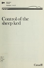 Cover of: Control of the sheep ked
