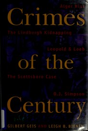 Cover of: Crimes of the century | Gilbert Geis