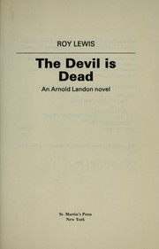 Cover of: The devil is dead