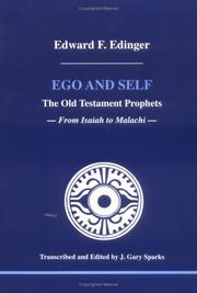 Cover of: Ego and self | Edward F. Edinger