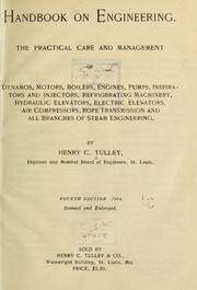 Cover of: Handbook on engineering... | Henry C. Tulley
