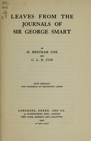 Cover of: Leaves from the journals of Sir George Smart