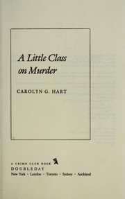 Cover of: A little class on murder