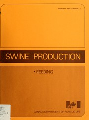 Cover of: Swine production | J. M. Bell