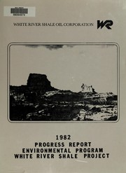 Cover of: White River Shale Project, Federal prototype oil shale tracts Ua and Ub